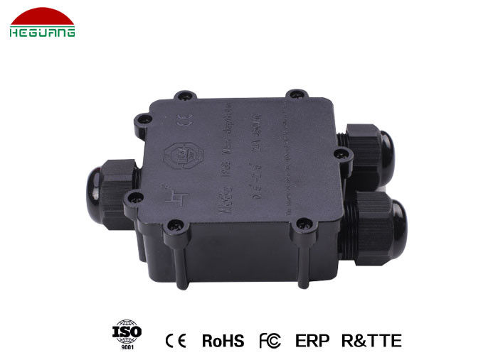 Waterproof Pool Light Accessories , 5-9mm / 12-15mm Three Way Junction Box