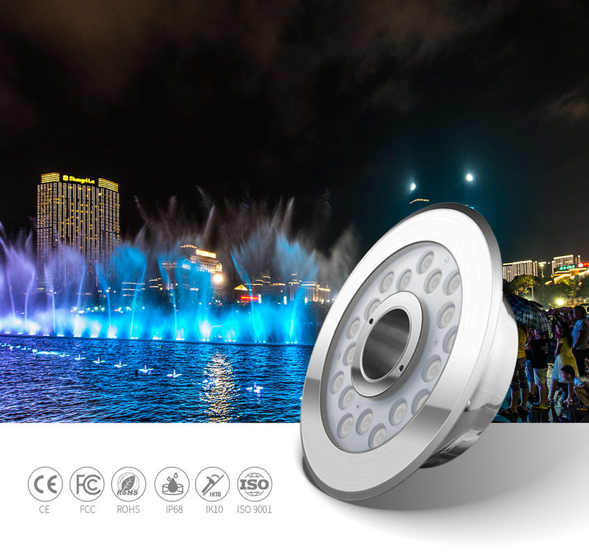 SMD3535 IP68 SS316L Led Underwater Fountain Lamp 600LM